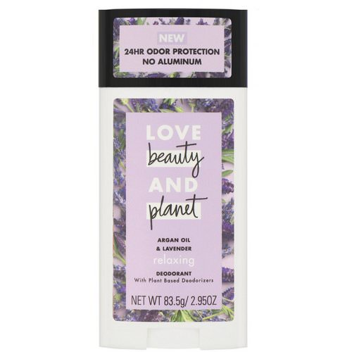 Love Beauty and Planet, Relaxing Deodorant, Argan Oil & Lavender, 2.95 fl oz (83.5 g) Review