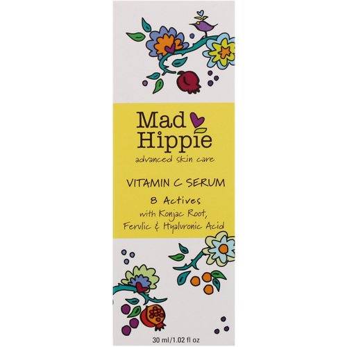 Mad Hippie Skin Care Products, Vitamin C Serum, 8 Actives, 1.02 fl oz (30 ml) Review