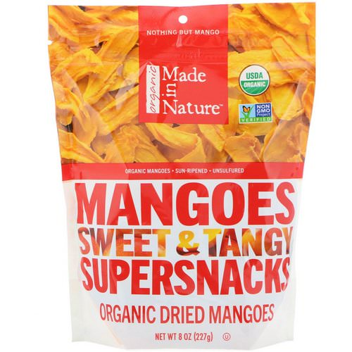 Made in Nature, Organic Dried Mangoes, Sweet & Tangy Supersnacks, 8 oz (227 g) Review