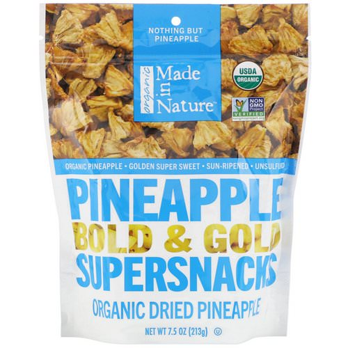 Made in Nature, Pineapple, Dried & Unsulfured, 7.5 oz (213 g) Review