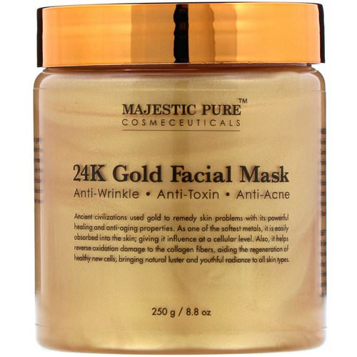 Majestic Pure, 24K Gold Facial Mask, 8.8 oz (250 g) Review