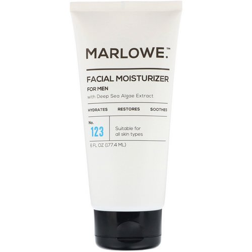 Marlowe, Men's Facial Moisturizer, No. 123, 6 fl oz (177.4 ml) Review