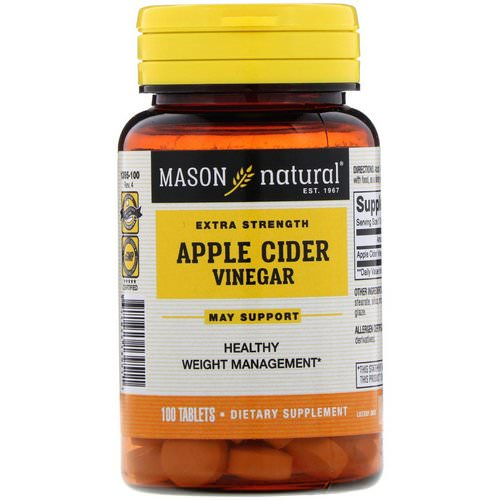 Mason Natural, Extra Strength Apple Cider Vinegar, 100 Tablets Review