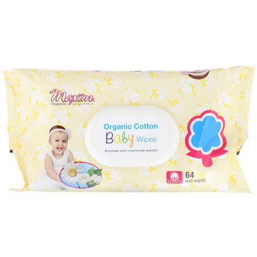 Maxim Hygiene Products, Organic Cotton Baby Wipes, 64 Wet Wipes Review