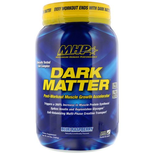MHP, Dark Matter, Post-Workout Muscle Growth Accelerator, Blue Raspberry, 3.44 lbs (1560 g) Review
