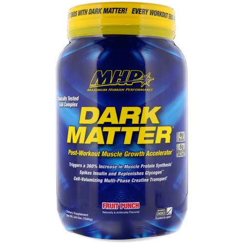 MHP, Dark Matter, Post-Workout Muscle Growth Accelerator, Fruit Punch, 3.44 lbs (1560 g) Review