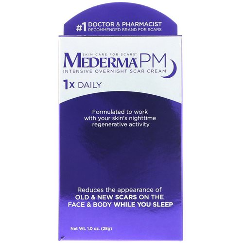 Mederma, PM, Intensive Overnight Scar Cream, 1.0 oz (28 g) Review