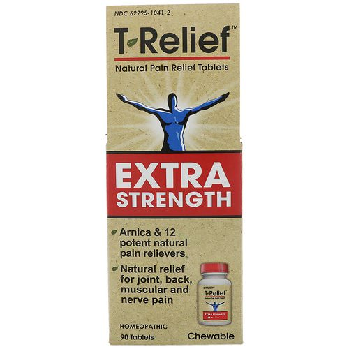 MediNatura, T-Relief, Extra Strength, Homeopathic, Natural Pain Relief Tablets, 90 Chewable Tablets Review