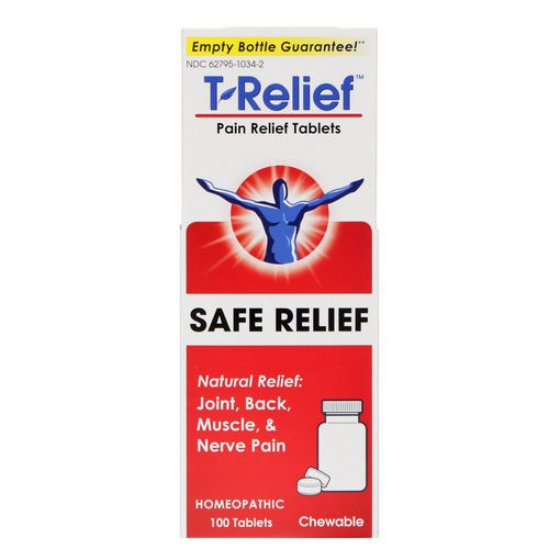 MediNatura, T-Relief, Safe Relief, Pain Relief Tablets, 100 Tablets Review