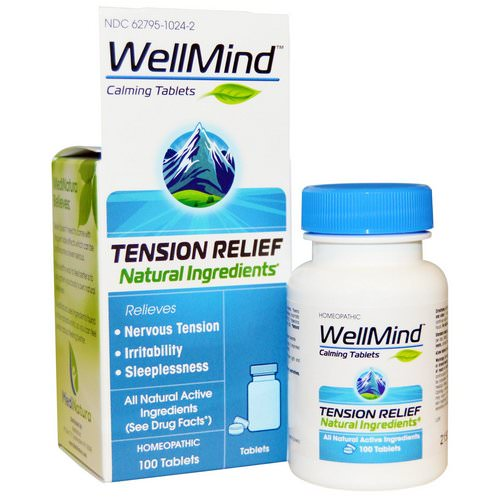 MediNatura, WellMind Calming Tablets, Tension Relief, 100 Tablets Review