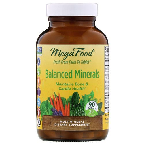 MegaFood, Balanced Minerals, 90 Tablets Review