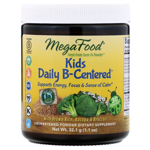 MegaFood, Kids Daily B-Centered, 1.1 oz (32.1 g) Review