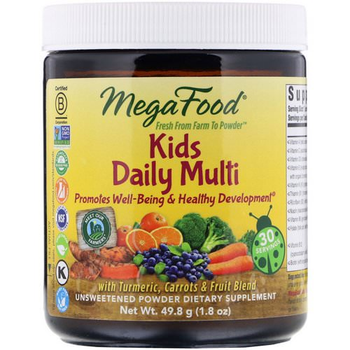MegaFood, Kids Daily Multi Powder, Unsweetened, 1.8 oz (49.8 g) Review
