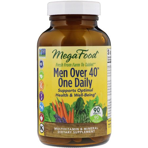 MegaFood, Men Over 40 One Daily, Iron Free Formula, 90 Tablets Review