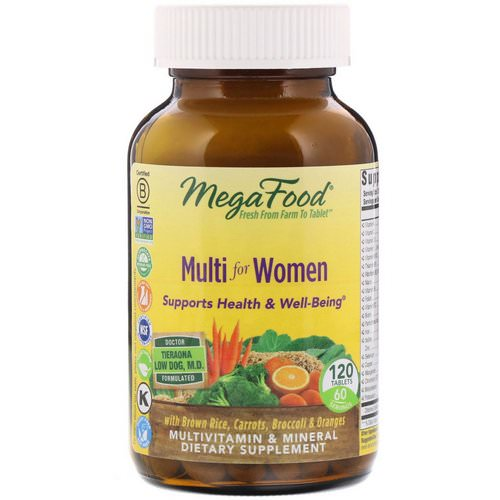 MegaFood, Multi for Women, 120 Tablets Review