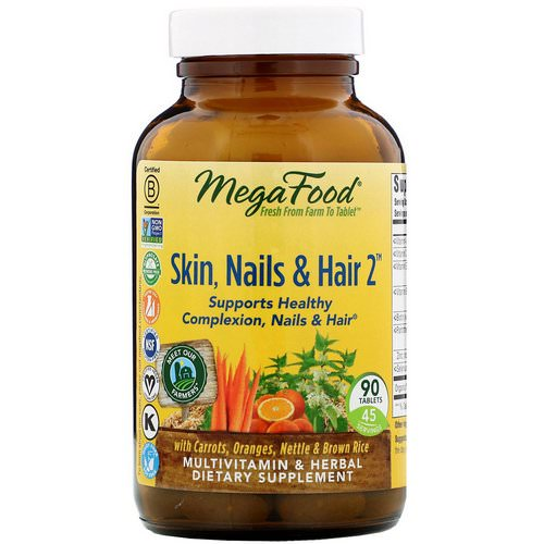MegaFood, Skin, Nails & Hair 2, 90 Tablets Review