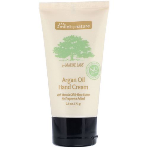 Mild By Nature, Argan Oil Hand Cream with Marula Oil & Coconut Oil plus Shea Butter, Soothing and Unscented, 2.5 oz (71 g) Review