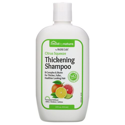 Mild By Nature, Thickening B-Complex + Biotin Shampoo by Madre Labs, No Sulfates, Citrus Squeeze, 14 fl oz (414 ml) Review
