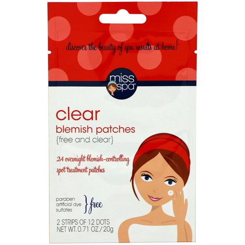Miss Spa, Clear, Blemish Patches, 24 Spots Review