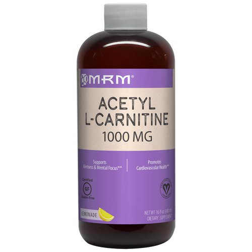 MRM, Acetyl L-Carnitine, Lemonade, 1,000 mg, 16 fl oz (480 ml) Review