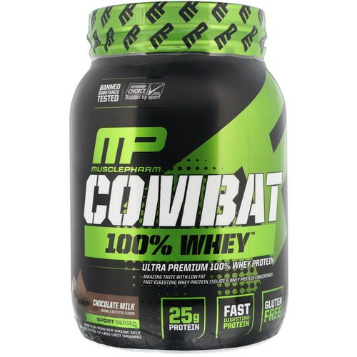 MusclePharm, Combat 100% Whey Protein, Chocolate Milk, 2 lbs (907 g) Review
