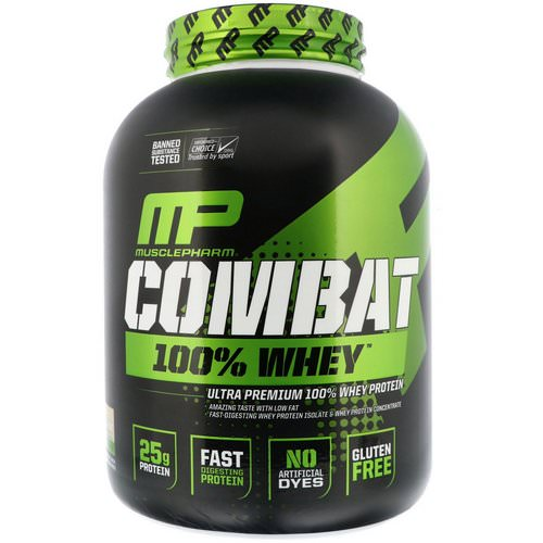MusclePharm, Combat 100% Whey Protein, Cookies 'n' Cream, 5 lbs (2269 g) Review