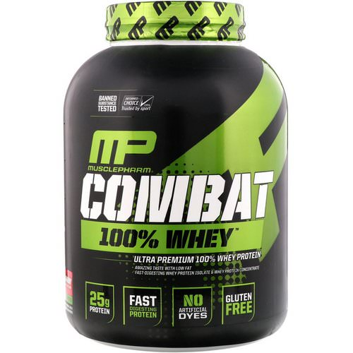 MusclePharm, Combat 100% Whey Protein, Strawberry, 5 lbs (2269 g) Review