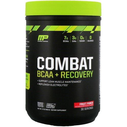 MusclePharm, Combat BCAA + Recovery, Fruit Punch, 17 oz (483 g) Review
