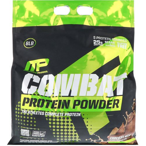 MusclePharm, Combat Protein Powder, Chocolate Milk, 8 lbs (3629 g) Review