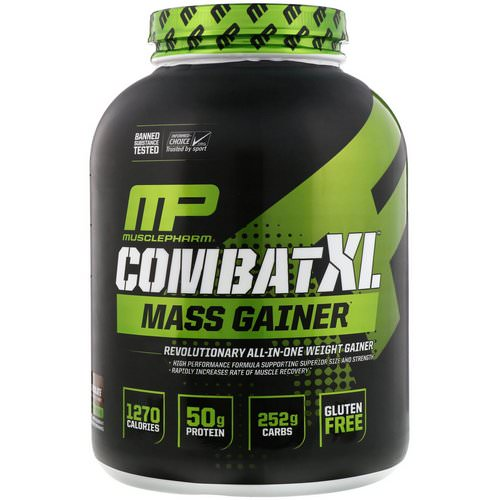 MusclePharm, Combat XL Mass Gainer, Chocolate, 6 lbs (2722 g) Review