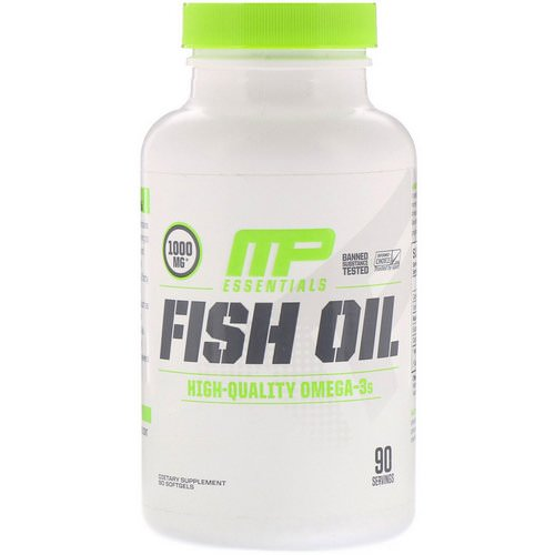MusclePharm, Essentials, Fish Oil, 90 Softgels Review