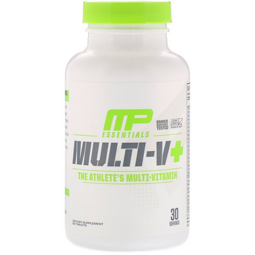 MusclePharm, Essentials, Multi-V+, The Athlete's Multi-Vitamin, 60 Tablets Review