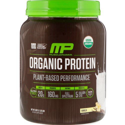MusclePharm Natural, Organic Protein, Plant-Based, Vanilla, 1.25 lbs (567 g) Review