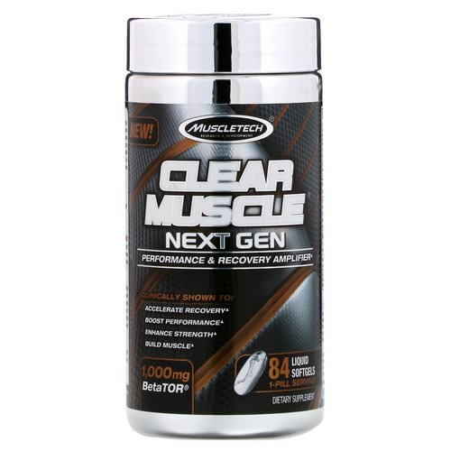 Muscletech, Clear Muscle Next Gen, Performance & Recovery Amplifier, 1000 mg, 84 Liquid Softgels Review