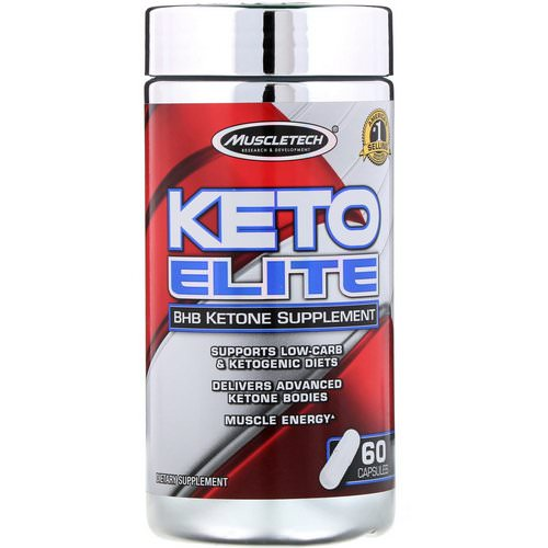 Muscletech, Keto Elite, BHB Ketone Supplement, 60 Capsules Review