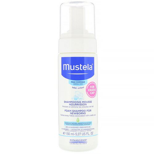 Mustela, Baby, Foam Shampoo For Newborns, For Normal Skin, 5.07 fl oz (150 ml) Review
