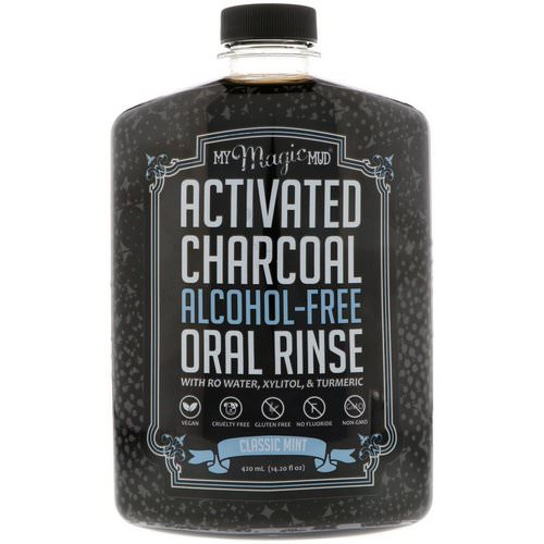 My Magic Mud, Activated Charcoal, Alcohol-Free Oral Rinse, Classic Mint, 14.20 fl oz (420 ml) Review