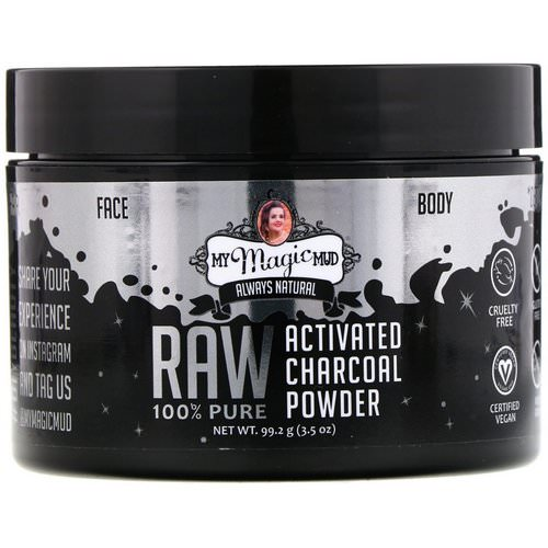 My Magic Mud, Raw 100% Pure, Activated Charcoal Powder, 3.5 oz (99.2 g) Review