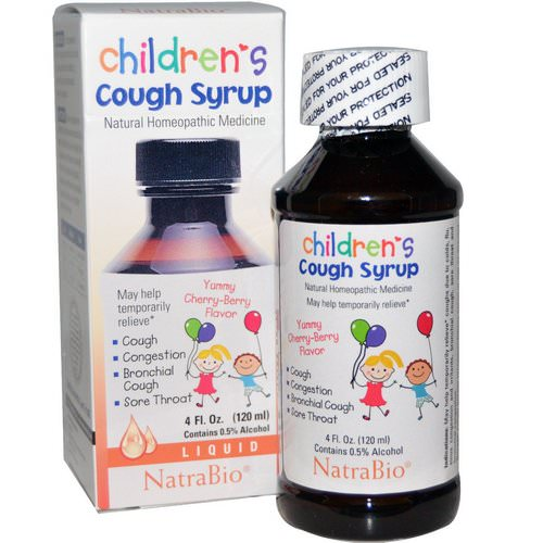 NatraBio, Children's Cough Syrup, Yummy Cherry-Berry Flavor, 4 fl oz (120 ml) Review