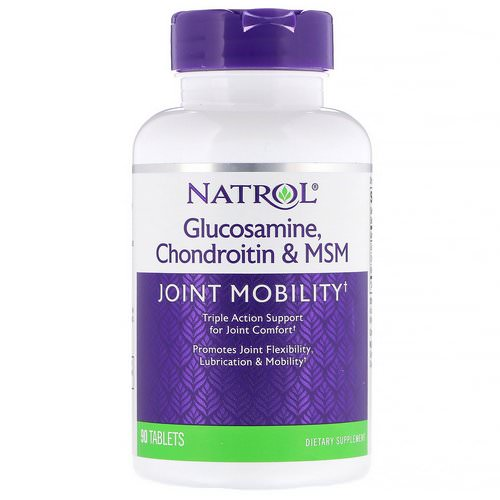 Natrol, Glucosamine, Chondroitin & MSM, 90 Tablets Review