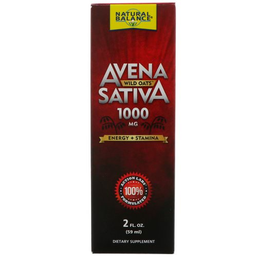 Natural Balance, Avena Sativa, Wild Oats, 1000 mg, 2 fl oz (59 ml) Review