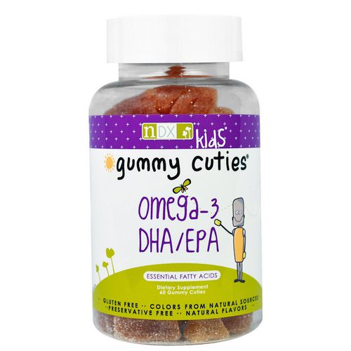Natural Dynamix (NDX), Kids, Gummy Cuties, Omega-3 DHA/EPA, 60 Gummy Cuties Review