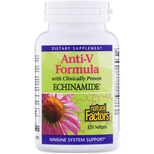 Natural Factors, Anti-V Formula, with Clinically Proven Echinamide, 120 Softgels Review