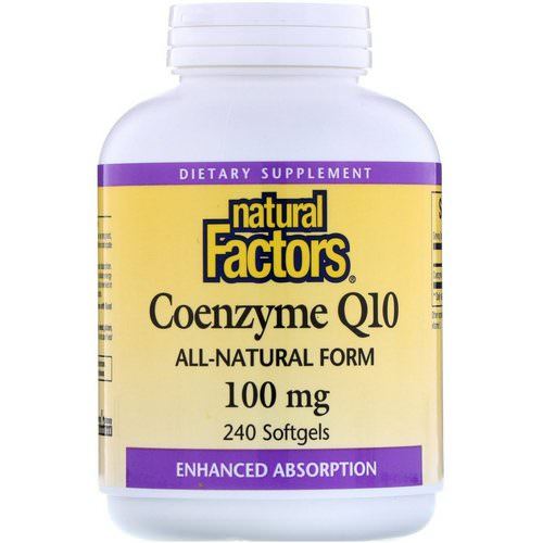 Natural Factors, Coenzyme Q10, 100 mg, 240 Softgels Review