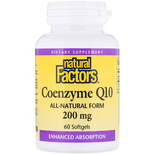 Natural Factors, Coenzyme Q10, 200 mg, 60 Softgels Review