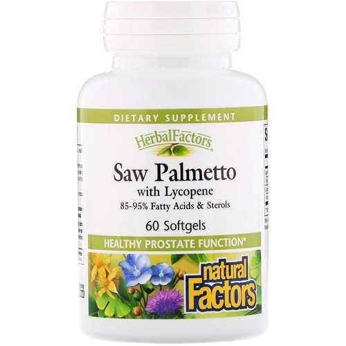 Natural Factors, HerbalFactors, Saw Palmetto with Lycopene, 60 Softgels Review