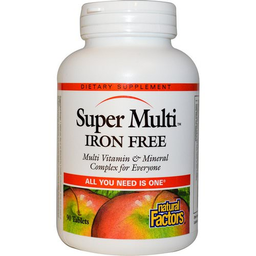 Natural Factors, Super Multi, Iron Free, 90 Tablets Review