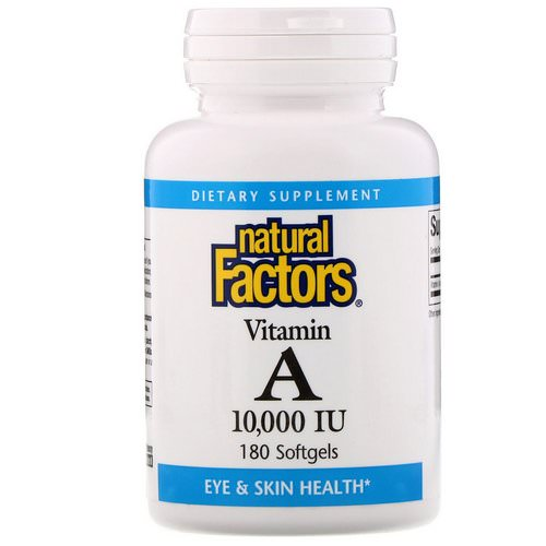 Natural Factors, Vitamin A, 10,000 IU, 180 Softgels Review