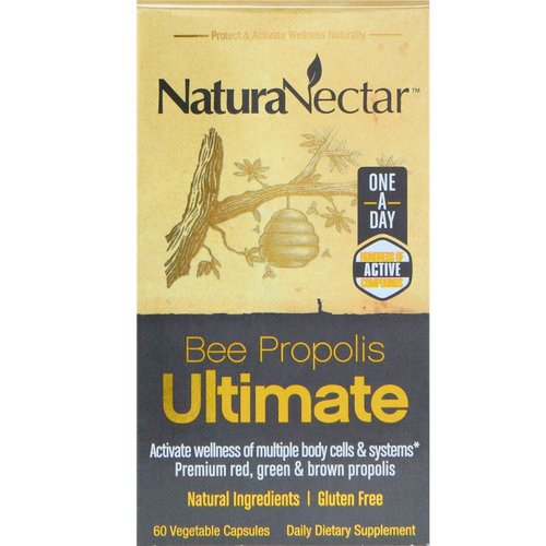 NaturaNectar, Bee Propolis Ultimate, 60 Vegetable Capsules Review