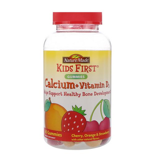 Nature Made, Kids First, Calcium + Vitamin D3 Gummies, Cherry, Orange & Strawberry, 65 Gummies Review